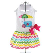 Ice Cream Cart Dress w/ Leash & D-Ring