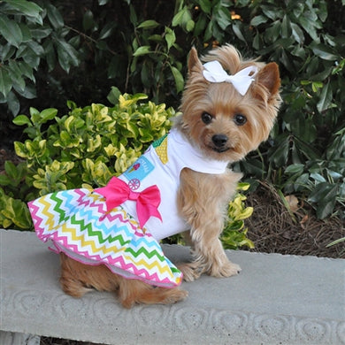 ICE CREAM CART HARNESS DRESS (Matching Leash)