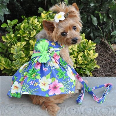 BLUE LAGOON HARNESS DRESS (Matching Leash) - doggyDAWGworld.com