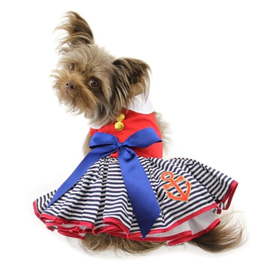 SAILOR GIRL HARNESS DRESS (Matching Leash)