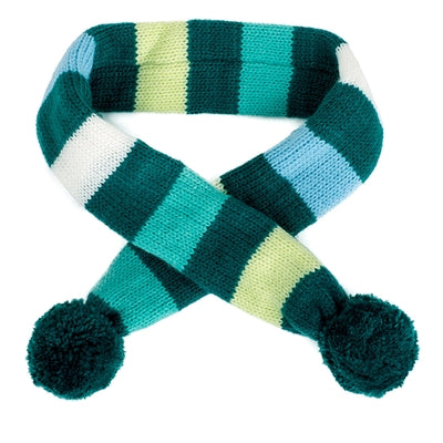 DAPPER STRIPED TEAL SCARF - doggyDAWGworld.com