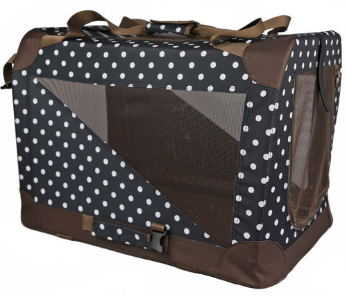 BROWN/BLACK  360° VISTA VIEW HOUSE PET CRATE - doggyDAWGworld.com