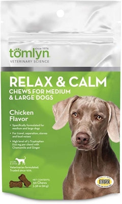 TOMLYN RELAX AND CALM CHEWS