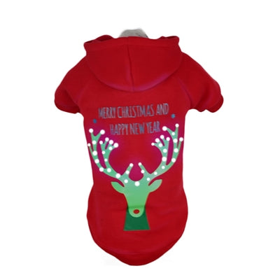 LED CHRISTMAS REINDEER HOODIE - doggyDAWGworld.com