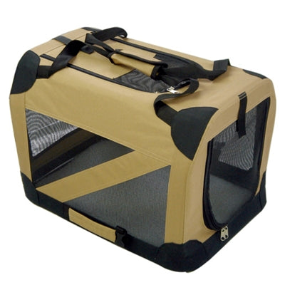 COLLAPSIBLE PET DOG CRATE (KHAKI) - doggyDAWGworld.com