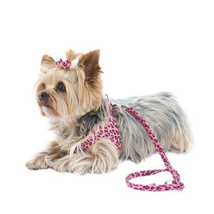 SUEDE LEASH (PINK LEOPARD)