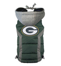Load image into Gallery viewer, NFL PUFFER VEST -GREEN BAY PACKERS - doggyDAWGworld.com