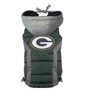 NFL PUFFER VEST -GREEN BAY PACKERS - doggyDAWGworld.com