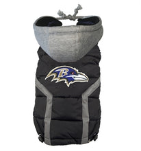 Load image into Gallery viewer, NFL PUFFER VEST -BALTIMORE RAVENS - doggyDAWGworld.com