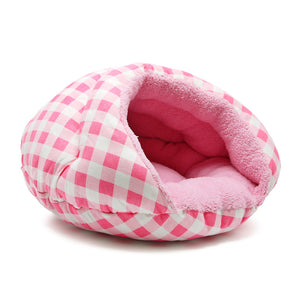 BURGER BED - CHECKERS * PINK