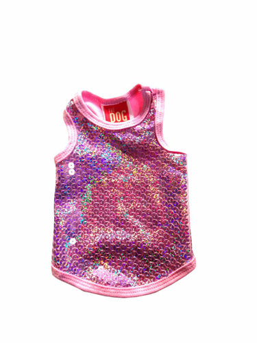 MALIBU PINK SEQUENCE TANK - doggyDAWGworld.com