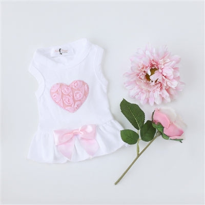 PUFF HEART DRESS (RED OR PINK) - doggyDAWGworld.com