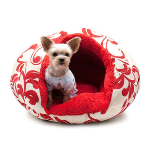 BURGER BED - RED FLORAL