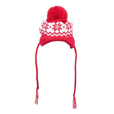 'LIL' RED SNOWFLAKE HAT - doggyDAWGworld.com