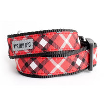 Load image into Gallery viewer, BIAS PLAID COLLAR - Red - doggyDAWGworld.com