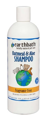 EARTHBATH OATMEAL & ALOE SHAMPOO FRAGRANCE FREE 16OZ