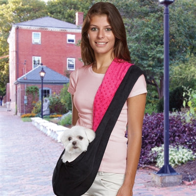 SLING DOG CARRIER (BLK/PINK)