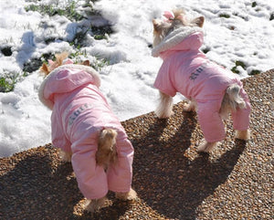 """RUFFIN IT"" SNOW SUIT (PINK) - doggyDAWGworld.com"