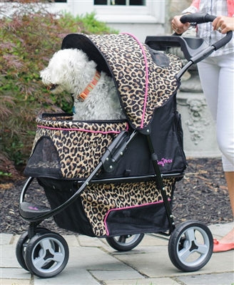 CHEETAH  ANIMAL PRINT STROLLER PROMENADE (up to 50 lbs) - doggyDAWGworld.com