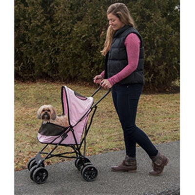 STROLLER  TRAVEL LIGHT (PINK) - doggyDAWGworld.com