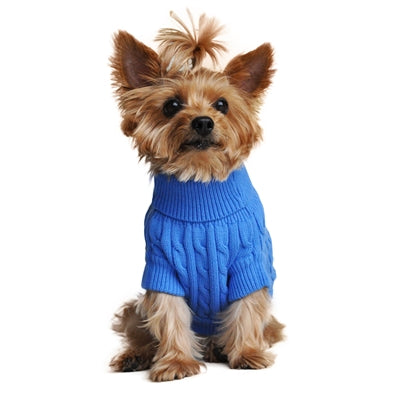 BLUE 100% COMBED COTTON SWEATER (XXS-3XL) - doggyDAWGworld.com
