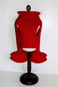 RED HOLIDAY SWEATER DRESS