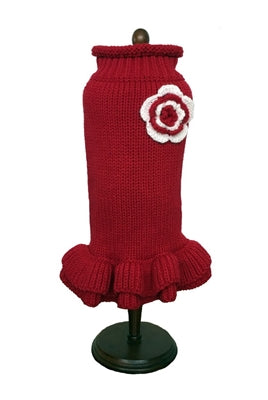 RED HOLIDAY SWEATER DRESS - doggyDAWGworld.com