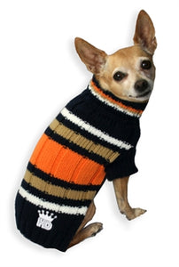 NAVY STRIPED TURTLENECK SWEATER - doggyDAWGworld.com