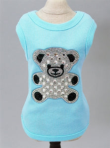 BEAR TEE (AQUA) - doggyDAWGworld.com