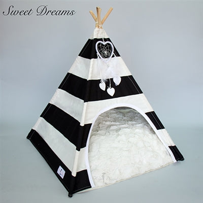 TEEPEE (BLACK/WHITE STRIPED)
