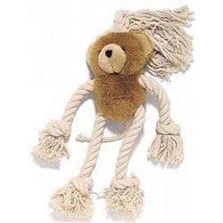 Plush & Rope Dog Toy (BEAR)