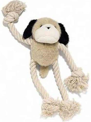 Plush & Rope Dog Toy (DOGGY)