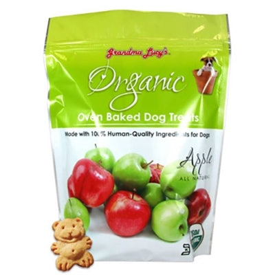 GRANDMA LUCYS ORGANIC BAKED TREAT 14OZ.  (APPLE) - doggyDAWGworld.com