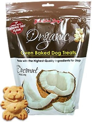 GRANDMA LUCYS ORGANIC BAKED TREAT 14OZ.  (COCONUT) - doggyDAWGworld.com