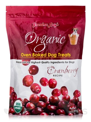 GRANDMA LUCYS ORGANIC BAKED TREAT 14OZ.  (CRANBERRY) - doggyDAWGworld.com