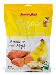 GRANDMA LUCYS ORGANIC BAKED TREAT 14OZ.  (BANANA) - doggyDAWGworld.com