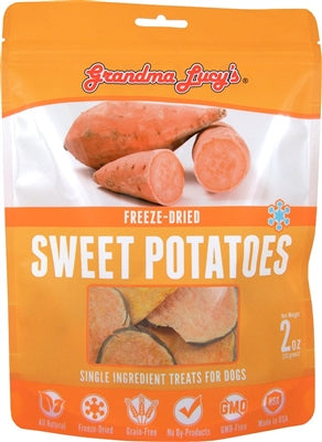 GRANDMA LUCYS DOG FREEZE DRIED TREAT 4 OZ.  (SWEET POTATOE) - doggyDAWGworld.com