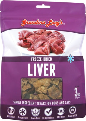 GRANDMA LUCYS DOG FREEZE DRIED TREAT 4 OZ.  (LIVER) - doggyDAWGworld.com