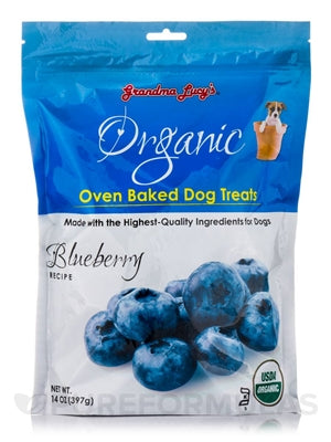 GRANDMA LUCYS ORGANIC BAKED TREAT 14OZ.  (BLUEBERRY) - doggyDAWGworld.com