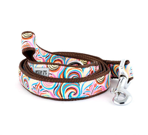 COLORFUL SWIRLY PLAYFUL PINK DOG LEAD
