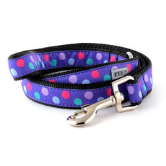 PURPLE GUMBALL DOG LEASH