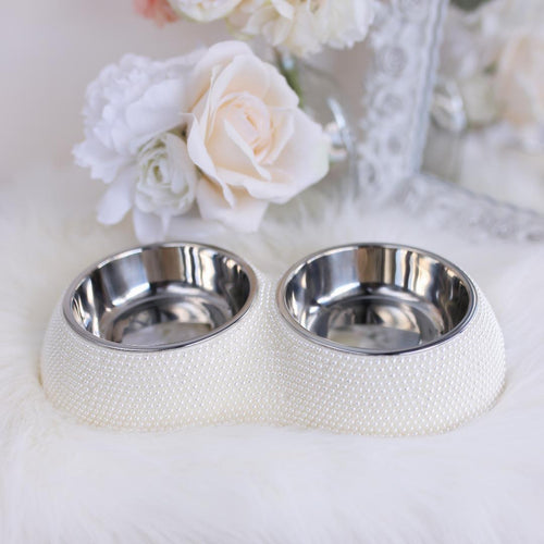 DINING BOWL (Pearl) - doggyDAWGworld.com
