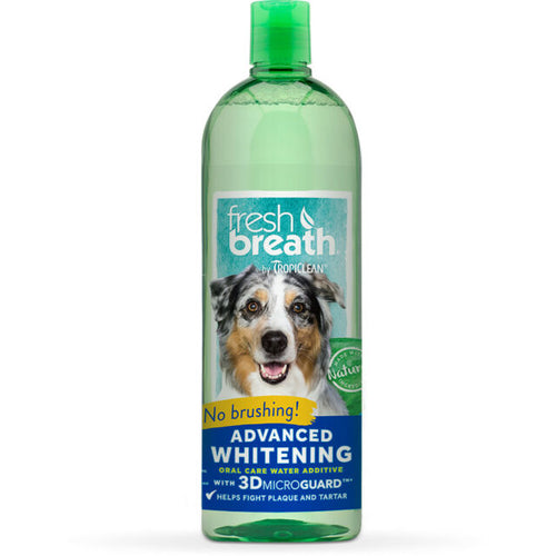 'FRESH BREATH' BY TROPICLEAN - Advanced Whitening Oral Care Water Additive - doggyDAWGworld.com