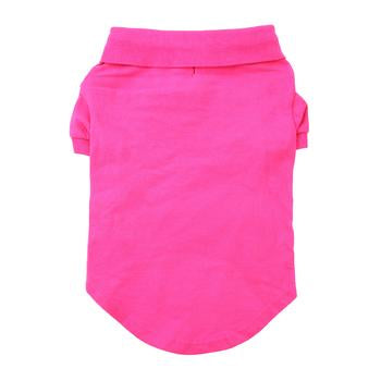 PINK SOLID DOG POLO SHIRT