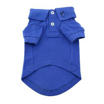 BLUE SOLID POLO DOG SHIRT