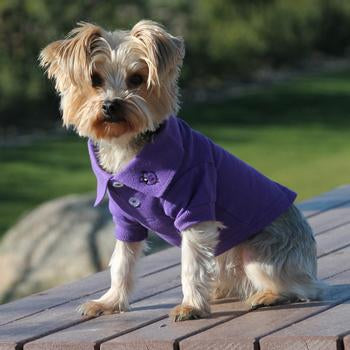 PURPLE SOLID POLO DOG SHIRT