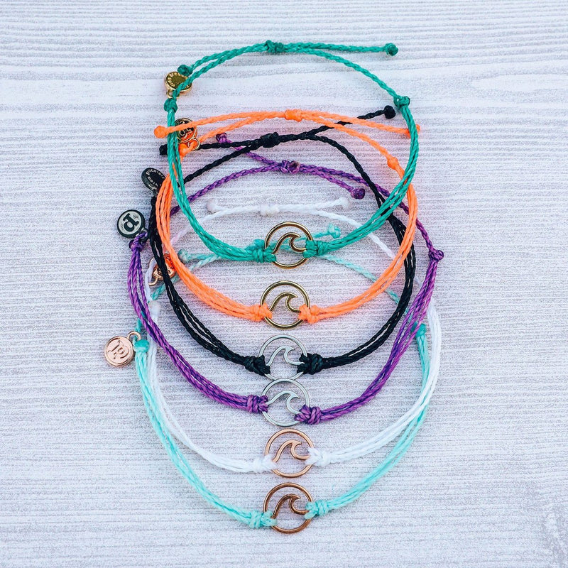 PURA VIDA BRACELETS - METAL WAVE CHARMS