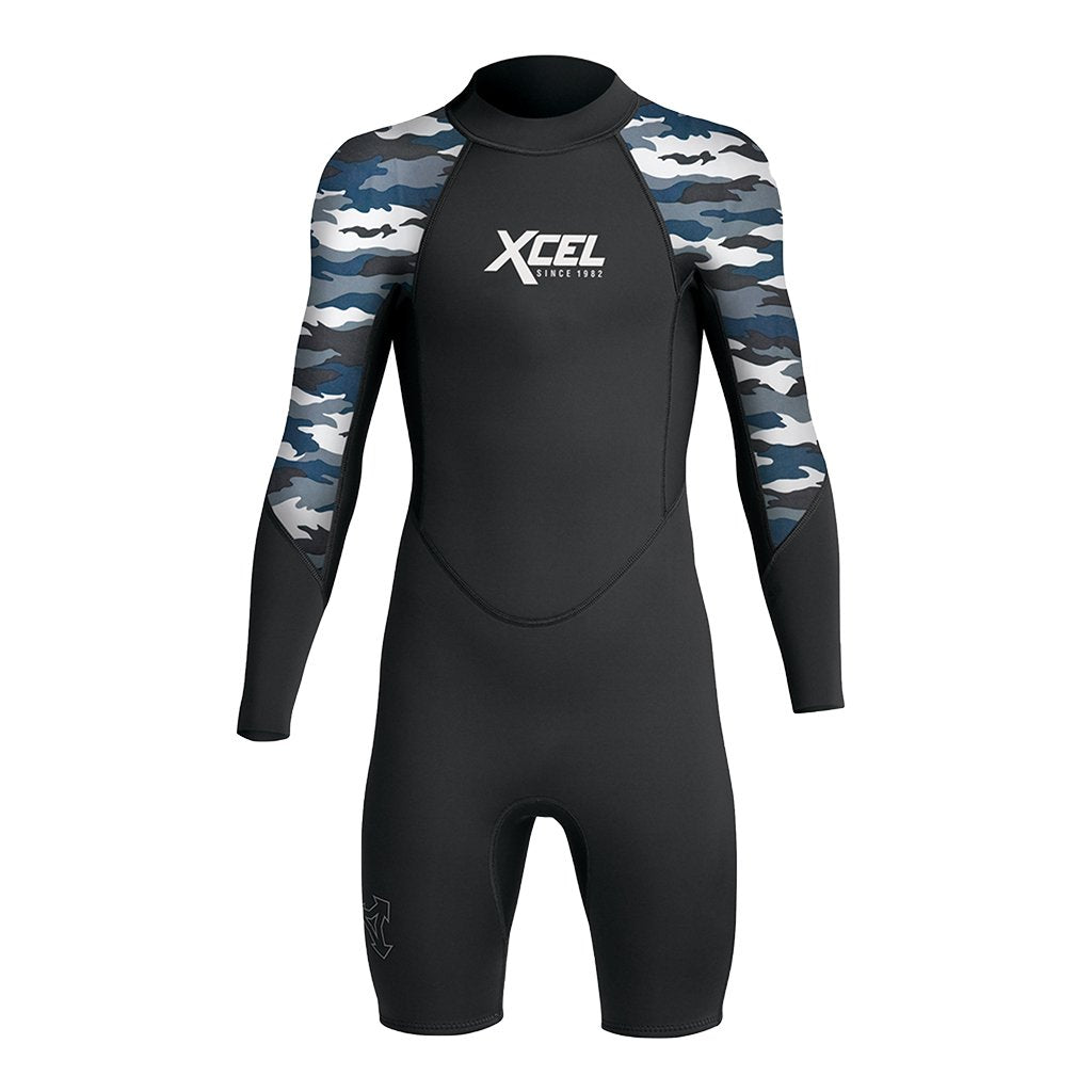 XCEL YOUTH AXIS LONG SLEEVE 2MM SPRINGSUIT