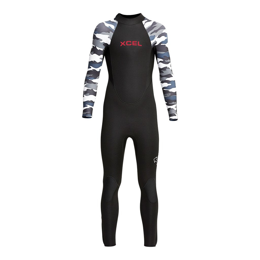XCEL YOUTH AXIS BACK ZIP 4/3MM FULLSUIT FA20