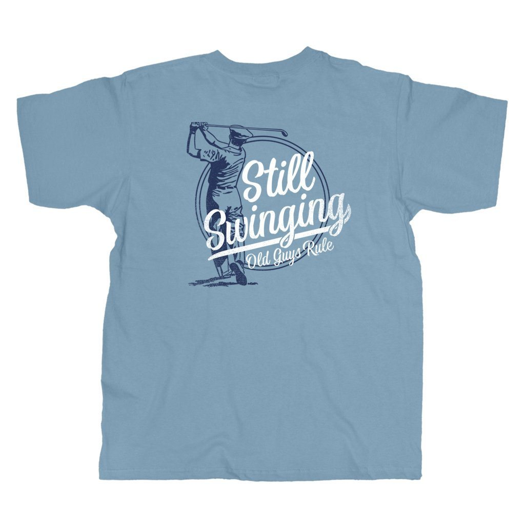 OLD GUYS RULE STILL SWINGING T-SHIRT